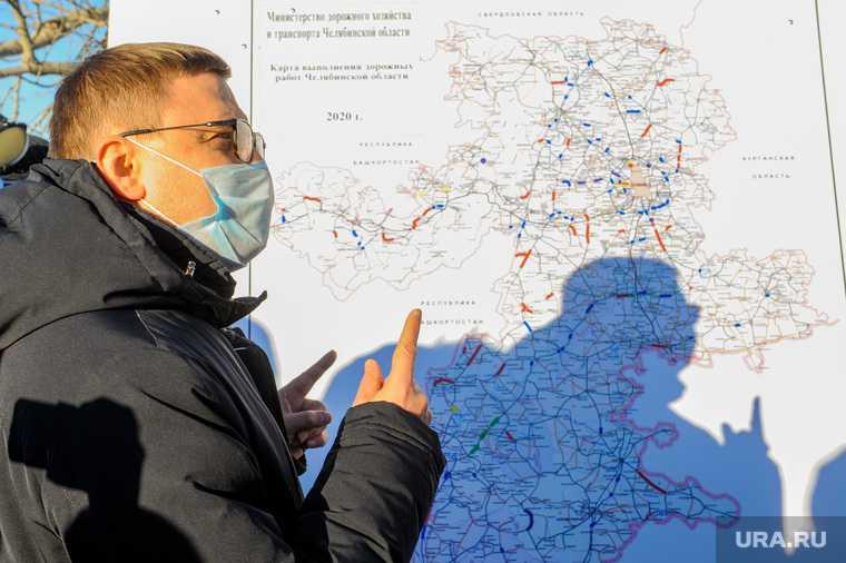 Алексей Текслер осмотрел дороги и объекты дорожной инфраструктуры, на которых велись работы в 2020 году. Челябинск