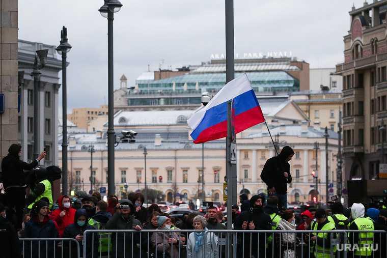Обстановка перед несанкционированной акцией сторонников оппозиционера Алексея Навального. Москва